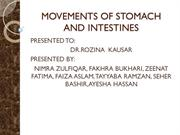 MOVEMENTS OF STOMACH AND INTESTINES