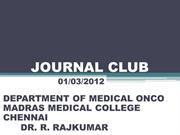 METFORMIN AND CANCER- JOURNAL CLUB