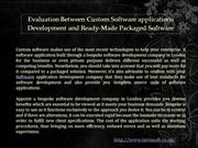 Custom Software Development in London
