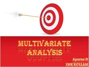 MULTIVARIATE ANALYSIS