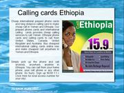 International calling cards to call african countryies from USA