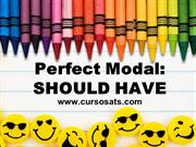STUDY NOTES - PERFECT MODAL SHOULD HAVE