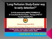Lung Perfusion Nuclear Scan Vs CT & PETCT