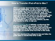 How to Transfer iPad ePub to Mac