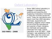 Manufacture and Exporters of Speciality Chemicals