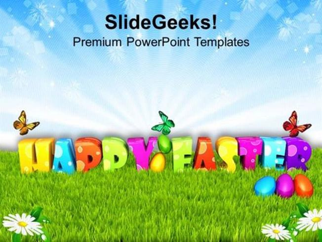 Finance Garden Theme For Good Wishes Of Happy Easter Ppt Template