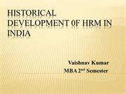 Development of HRM in India