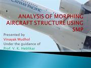 Analysis of morphing wing structure using SMP