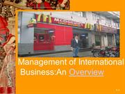 MIB Intro management of international business