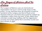 The League of Nations And Its Failure