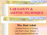 Lab safety and Aseptic technique