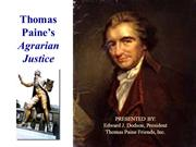 Thomas Paine's Agrarian Justice