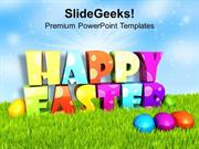 CHRISTIAN MULTI COLOR DESIGN FOR HAPPY EASTER WISHES PPT TEMPLATE