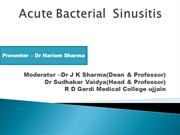 Acute Bacterial  Sinusitis