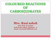 COLOURED REACTIONS OF CARBOHYDRATES