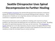 Seattle Chiropractor Uses Spinal Decompression to Further Healing