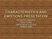 kyunghee characteristics and emotions
