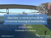 OpenSim, a Construction Kit for Immersive Learning in Microbiology