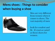 Mens shoes Things to consider when buying a shoe | footwear
