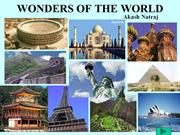 wonders of the world by Akash