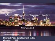 Michael Page Employment Index