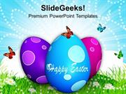 CHRISTIAN MULTICOLORED EASTER EGGS WITH SURPRISE PPT TEMPLATE