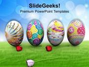CHRISTIAN COLORFUL EASTER EGGS HOLIDAYS PPT TEMPLATE