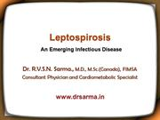 Leptospirosis by Dr Sarma