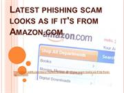 Latest phishing scam looks as if it's from Amazon.com