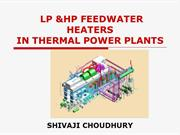 LP,HP FEEDWATER HEATERS IN THERMAL POWER PLANTS