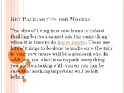 Key Packing tips for Movers