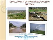 DEVELOPMENT OF WATER RESOURCES IN PAKISTAN