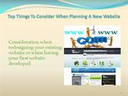 Top Things to Consider When Planning a New Website