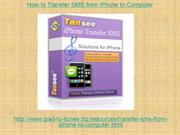 How to Transfer SMS from iPhone to Computer