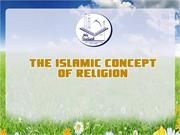 The Islamic concept of religion