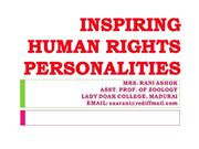 human rights personalities