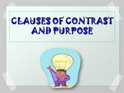 Clauses of contrast and purpose