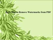 Easy Way to Remove Watermarks from PDF