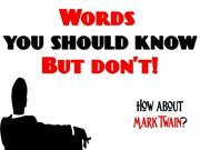 Words You Should Know - But Don't