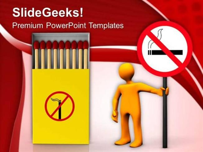 Health Cigarette Smoking Injurious To Health Ppt Template Powerpoint