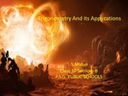 Trigonometry and its applications