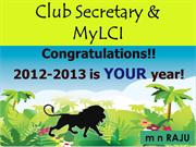 Lion Secretary 2012-2013