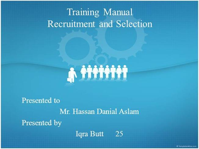 training manual presentation authorstream