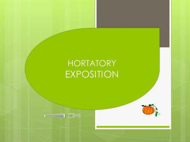 language features of hortatory exposition