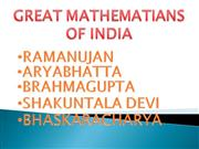 great mathematians of india
