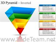 4 STAGES LAYERED 3D INVERTED PYRAMID SLIDES AND DIAGRAM TEMPLATES
