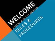 JosephPickett-Rules-Procedures-EDU506-ppt