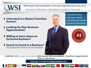 WSI Business Franchise Opportunities in Germany