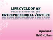 LIFE CYCLE OF AN ENTREPRENEURIAL VENTURE