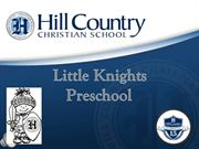 Discover Hill Country Christian School's Preschool